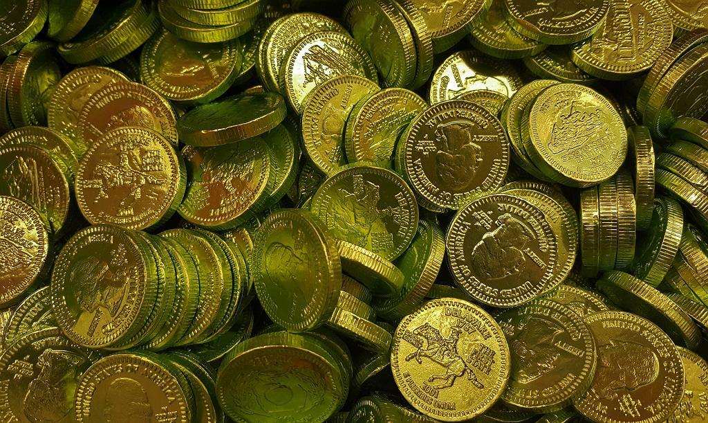 Złote monety, zdjęcie ilustracyjne