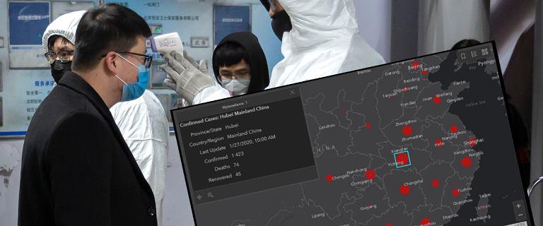 Gdzie jest koronawirus z Chin? Można to sprawdzić na specjalnej mapie