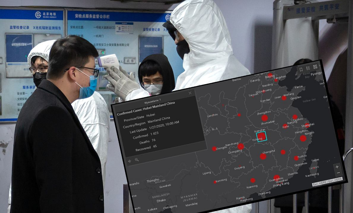 Gdzie jest koronawirus z Chin? Można to sprawdzić na specjalnej mapie | Technologie na Next Gazeta