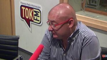Michał Kamiński w studiu radia TOK FM