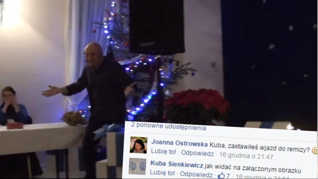 Kuba Sienkiewicz podczas występu w Kampinosie