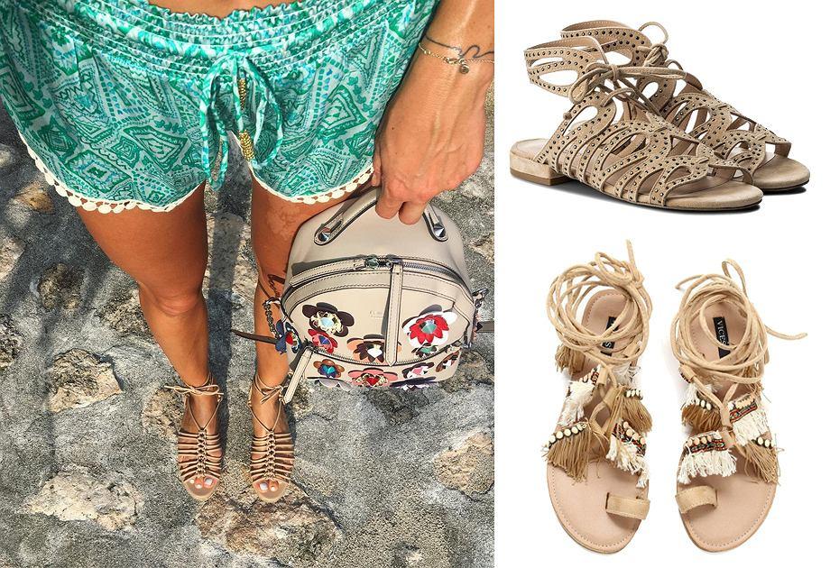 Wiązane sandały na lato