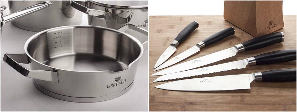 Garnki i noże marki Gerlach