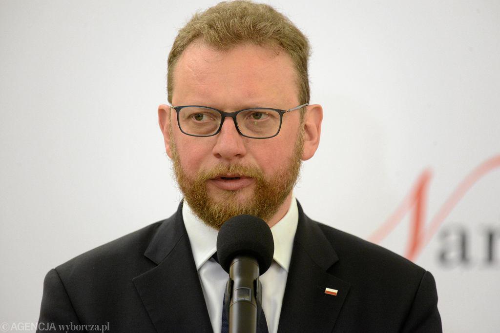 Minister zdrowia w rządzie PiS Łukasz Szumowski. Warszawa, 8 stycznia 2019