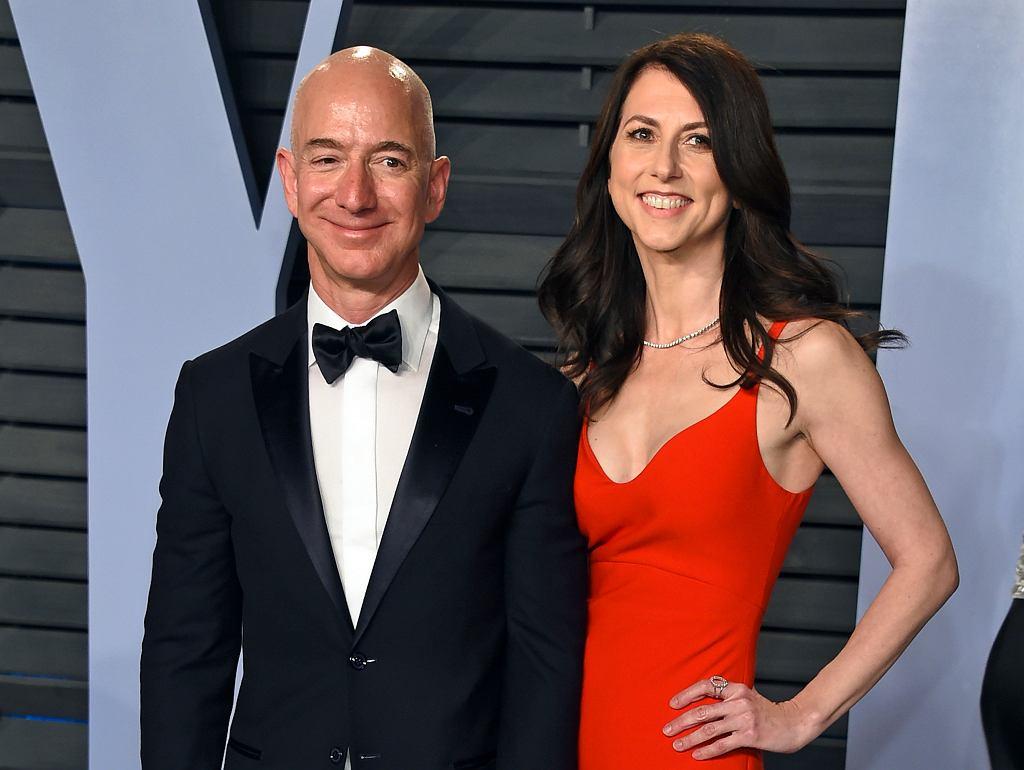 Jeff Bezos z żoną MacKenzie Bezos
