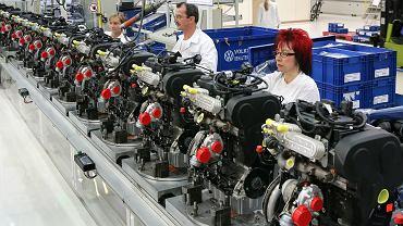 Produkcja silników w fabryce Volkswagena w niemieckim Chemnitz.