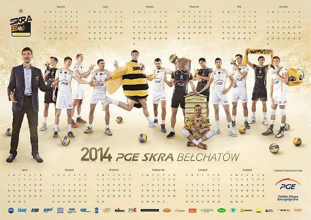 Kalendarz Skry Bełchatów na rok 2014