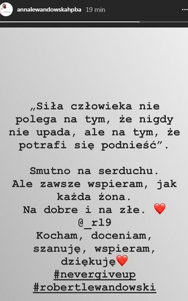 Lewandowska komentuje porażkę męża