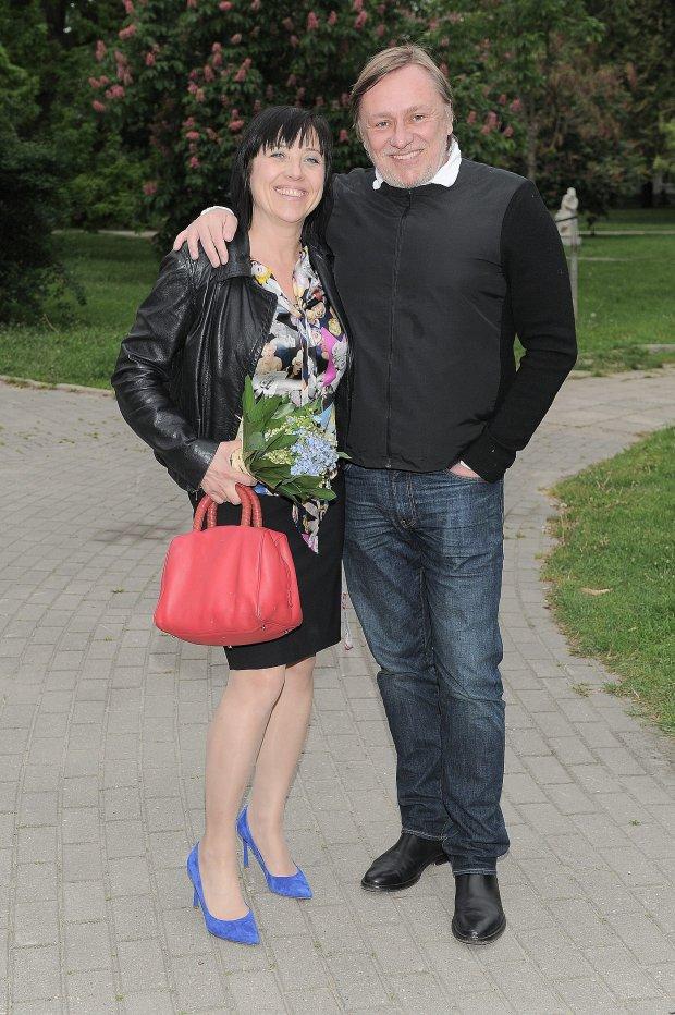Hanna Śleszyńska i Jacek Brzosko, -Jak na wulkanie - premiera w Teatrze Komedia