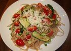 Spaghetti z cukinią - posiłek po treningu dla biegacza - Zdjęcia