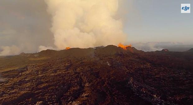 Eksplozja wulkanu Bardarbunga. Kadr z filmu: