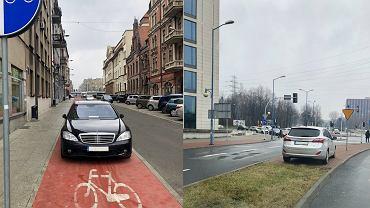 Tak parkują kierowcy w Katowicach. Radny Łukasz Borkowski ma takich zdjęć o wiele więcej