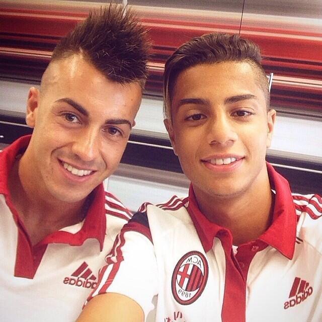 Hachim Mastour (z prawej) i Stephan El Shaarawy
