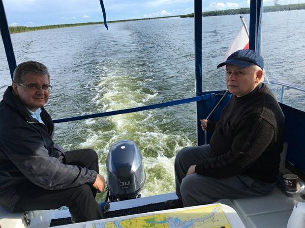 Jarosław Kaczyński na Zalewie Szczecińskim