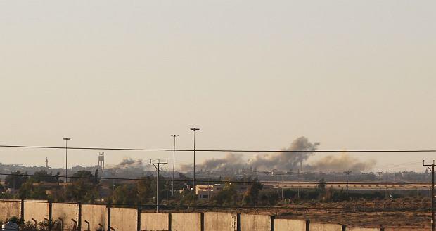 Bombardowania w Syrii na początku lipca b.r. widziane z jordańskiej granicy