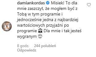 Komentarza Damiana Kordasa