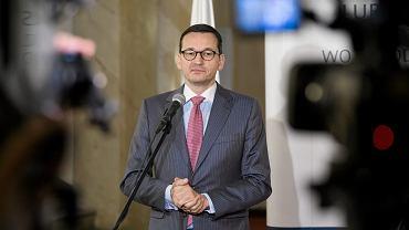 Wicepremier, minister rozwoju i finansów Mateusz Morawiecki podczas spotkania z przedsiębiorcami. Lublin, 20 października 2017