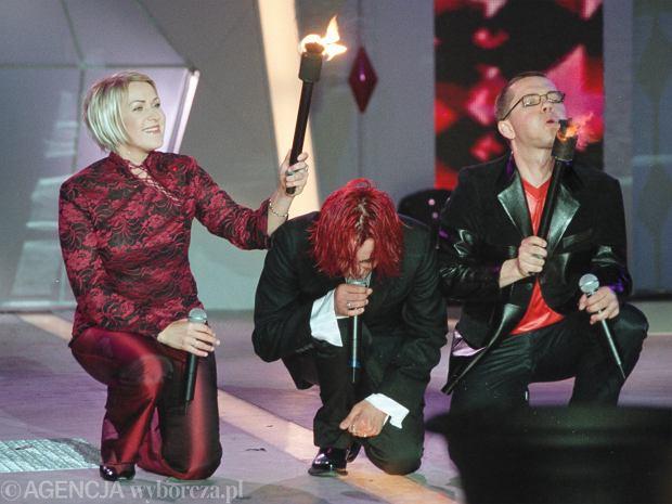 Justyna Majkowska w 2002 roku, Michał Wiśniewski, Jacek Łągwa czyli Ich Troje w 2002 roku