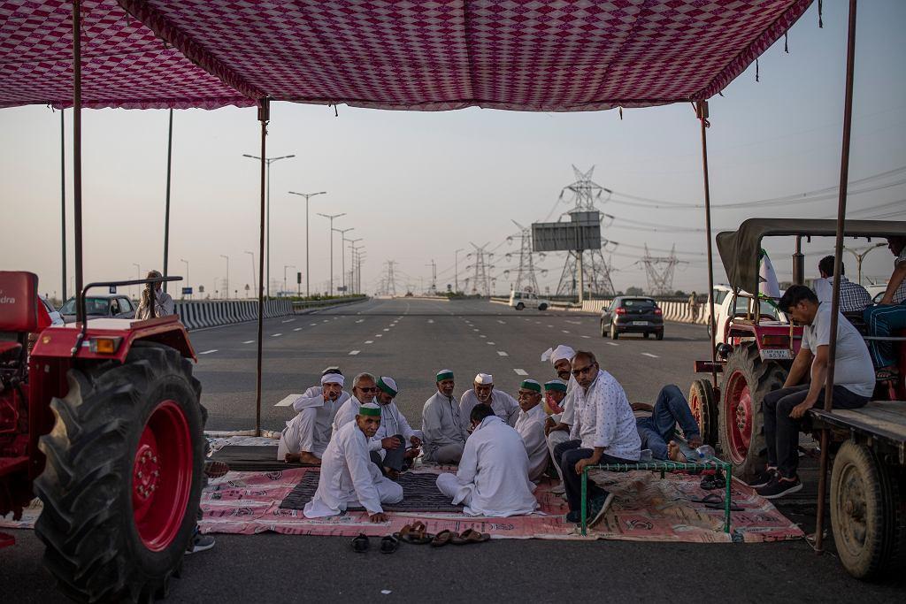 Protesty rolników w Indiach