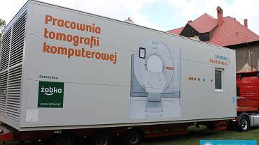 Przekazanie kontenerowej pracowni tomograficznej dla gorzowskiego szpitala