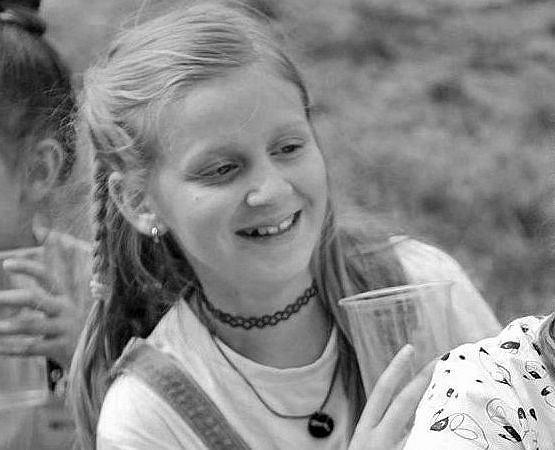 Kristina na pikniku w Mrowinach, dwa tygodnie przed śmiercią