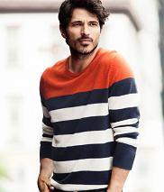 Sweter z kolekcji H&M. Cena: 229 zł, moda męska, swetry, h&m, Pogoda w kratkę, swetry w paski