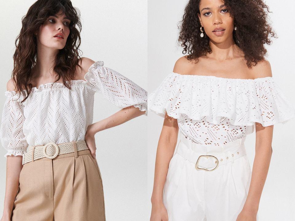 białe bluzki hiszpanki