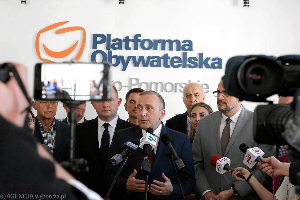 Konferencja Grzegorza Schetyny w Toruniu