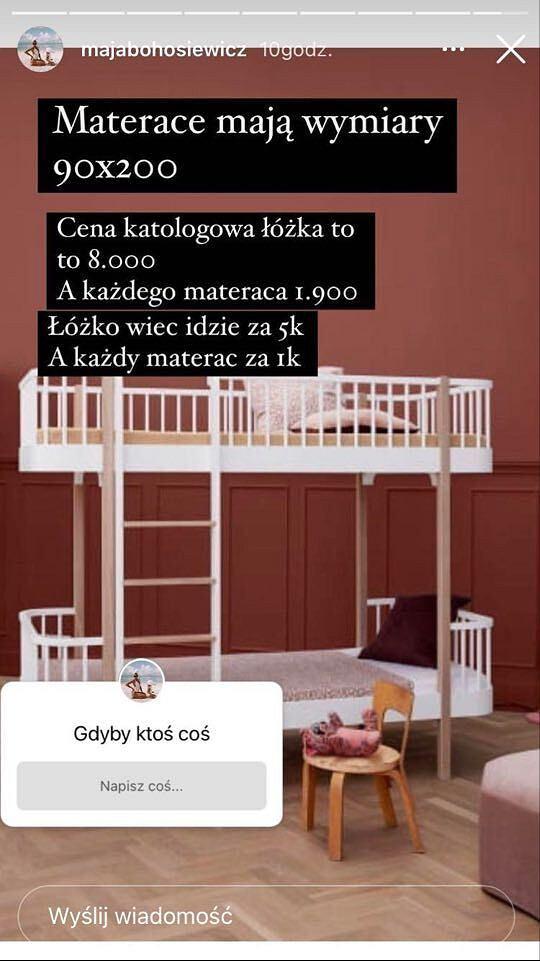 Maja Bohosiewicz sprzedaje łóżko dzieci