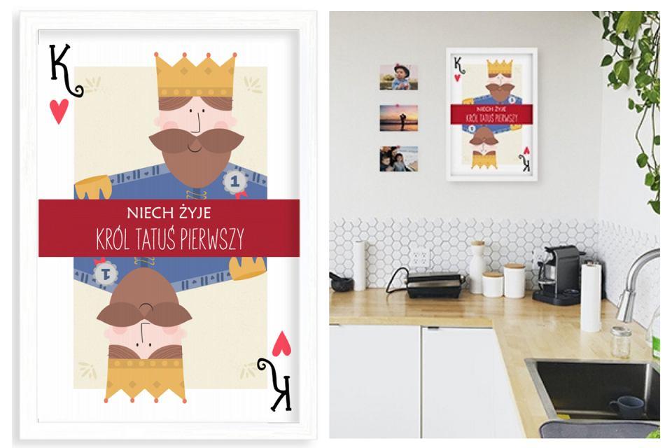Plakat w ramce 'Król Tatuś Pierwszy'.