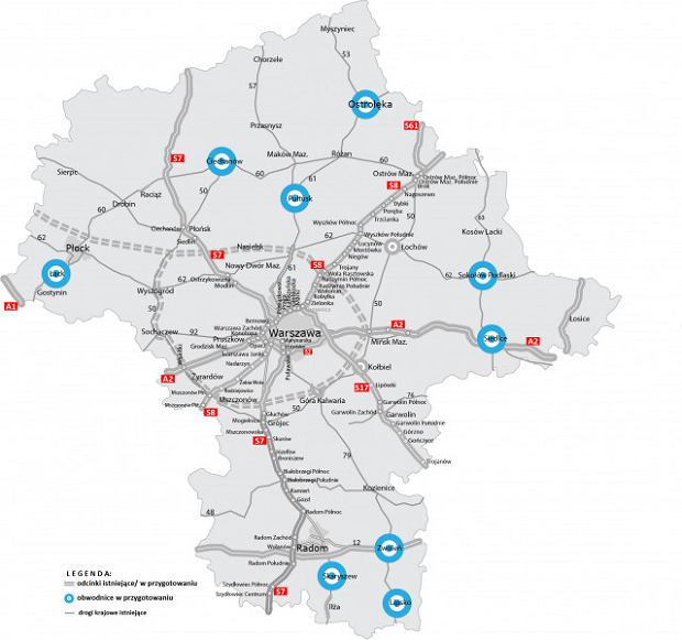 Program budowy obwodnic w woj. mazowieckim na lata 2020-2030