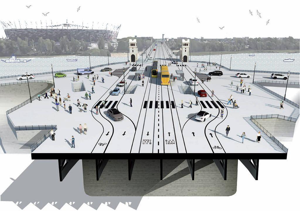 'Ludzki Poniatowski'. Aktywiści chcą przebudować most Poniatowskiego, żeby był bezpieczniejszy