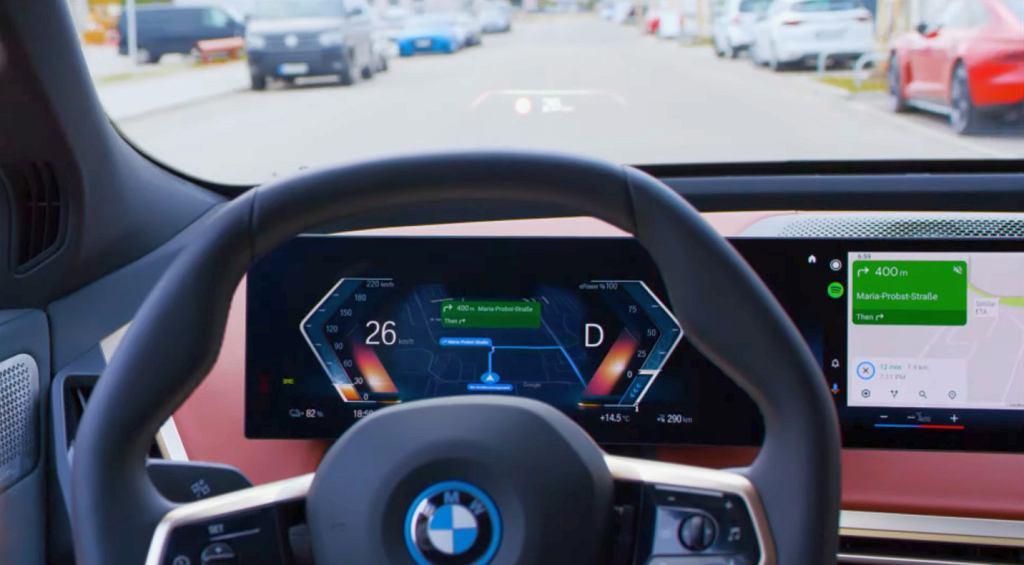 Android Auto w BMW iX