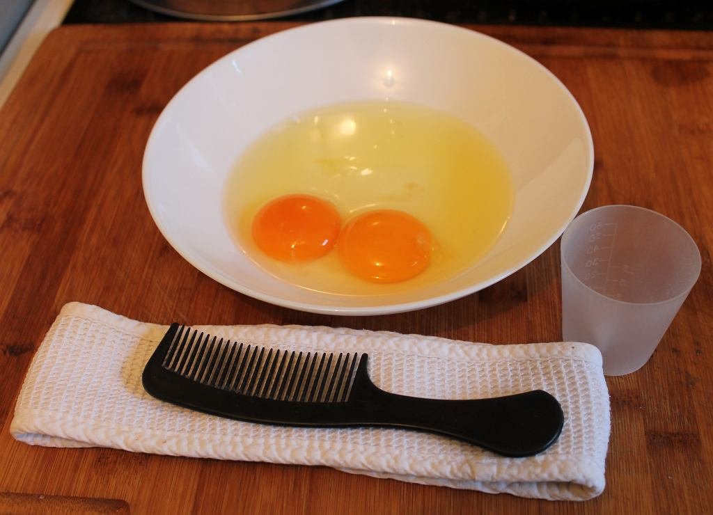 Egg,Hair,Mask,Comb,Bowl
