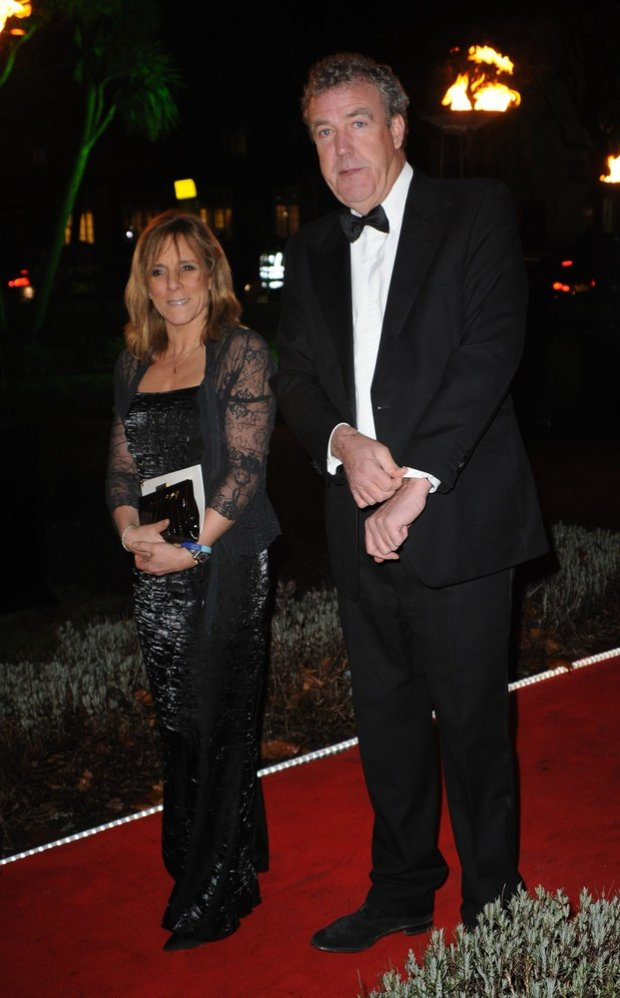 Jeremy Clarkson and wife arriving at the Military Awards 2011 at the Imperial War Musuem, London 19th December 2011fot. Photoshot/REPORTER