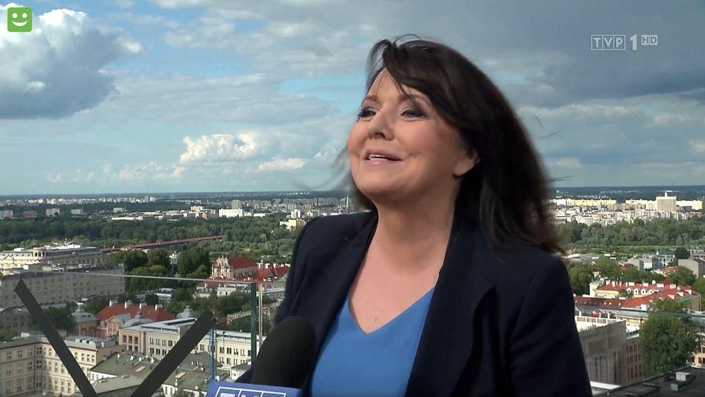 Danuta Holecka w 'Wiadomościach' TVP z 12.07.2020
