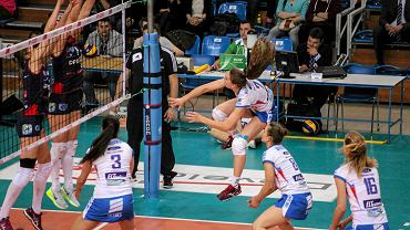 Ewa Śliwińska (nr 7) w meczu Developres SkyRes Rzeszów - SK bank Legionovia Legionowo 1:3