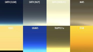 Jak wygląda zachód Słońca na różnych obiektach Układu Słonecznego? NASA stworzyła wizualizacje