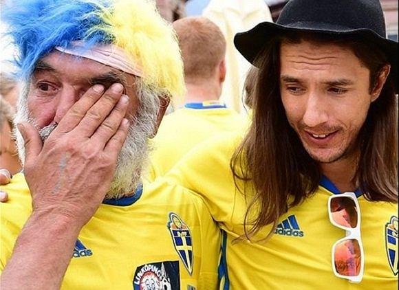 Bezdomny i szwedzki kibic