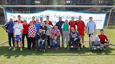Piłkarze Górnika Zabrze spotkali się z niepełnosprawnymi kibicami