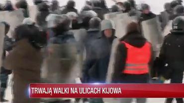 Bartłomiej Maślanka z TV Republika podczas swojej relacji z Kijowa