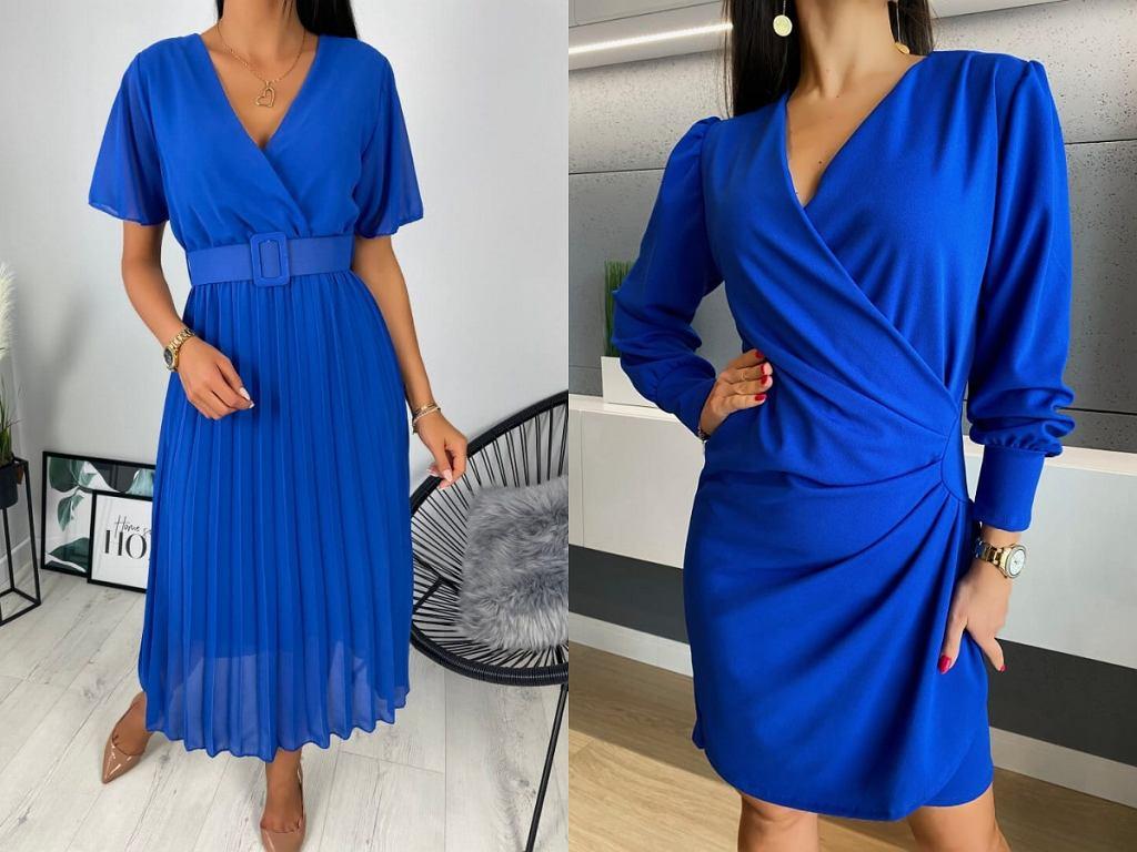 eleganckie sukienki kobaltowe