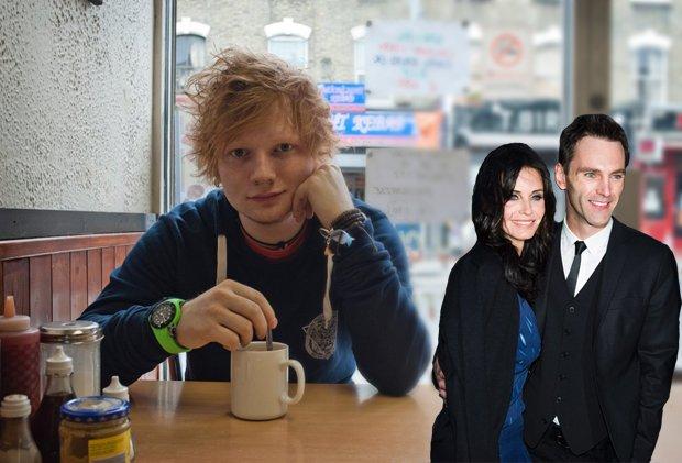 Ed Sheeran oraz Courteney Cox i Johnny McDaid