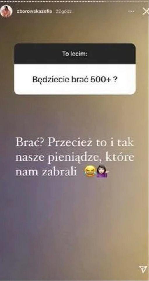 Zofia Zborowska ostro komentuje program '500 plus'. 'Pieniądze, które nam zabrali'