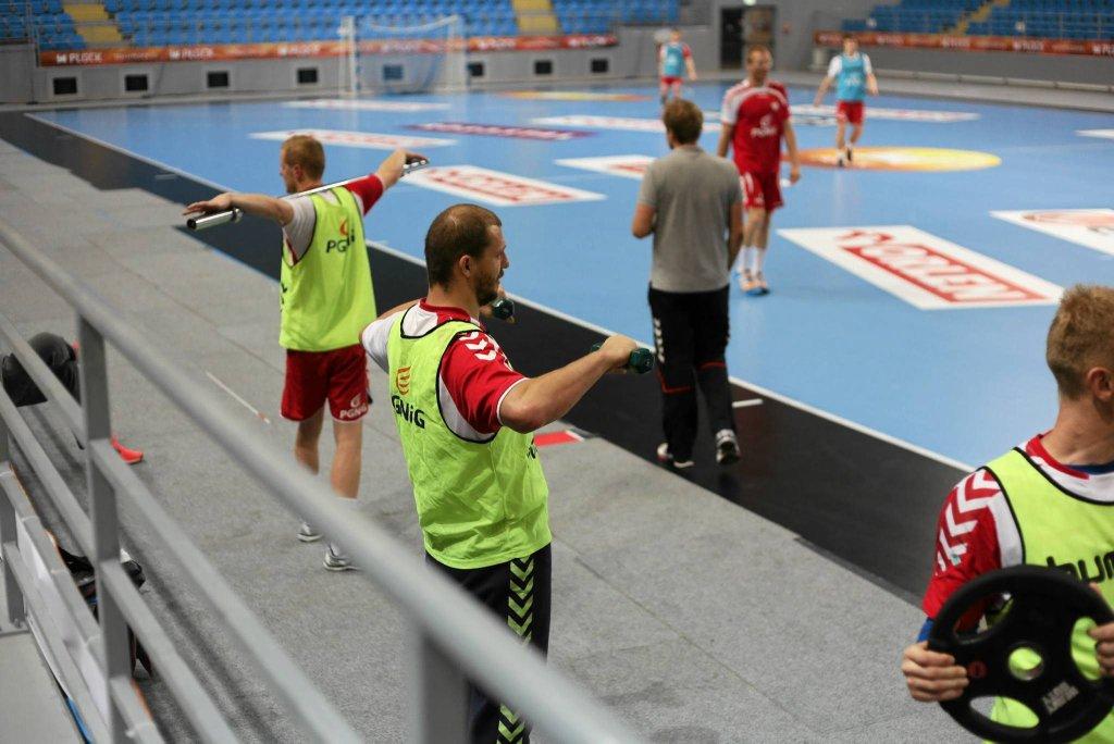 Trening reprezentacji Polski w piłce ręcznej mężczyzn w Orlen Arenie w Płocku