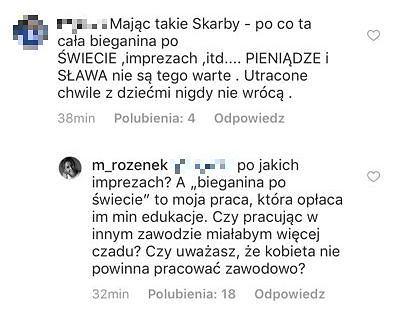 Dyskusja pod zdjęciem Małgorzaty Rozenek