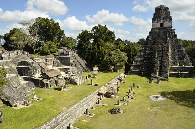 Ruiny miasta Majów Tikal w Gwatemali