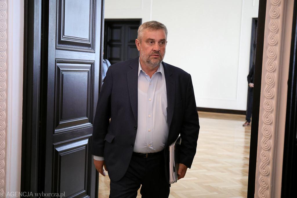 Minister rolnictwa i rozwoju wsi Jan Krzysztof Ardanowski po posiedzeniu rządu