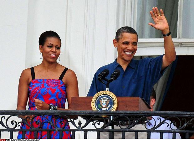 Barack Obama i Michelle Obama, Dzień Niepodległości 2011. Prezydentowa w sukience Sophie Theallet