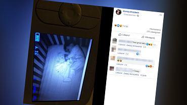 Kobieta przestraszyła się na widok 'ducha' w pokoju synka